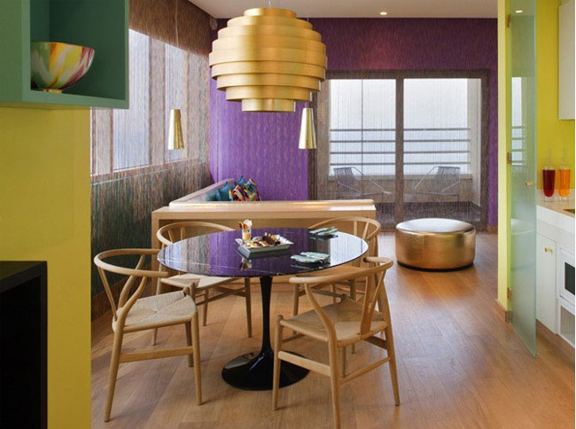 Turquoise and Gold Missoni Hotel missoni hotel interior design