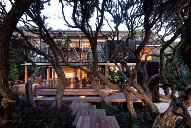 Two story beach house beach house exterior