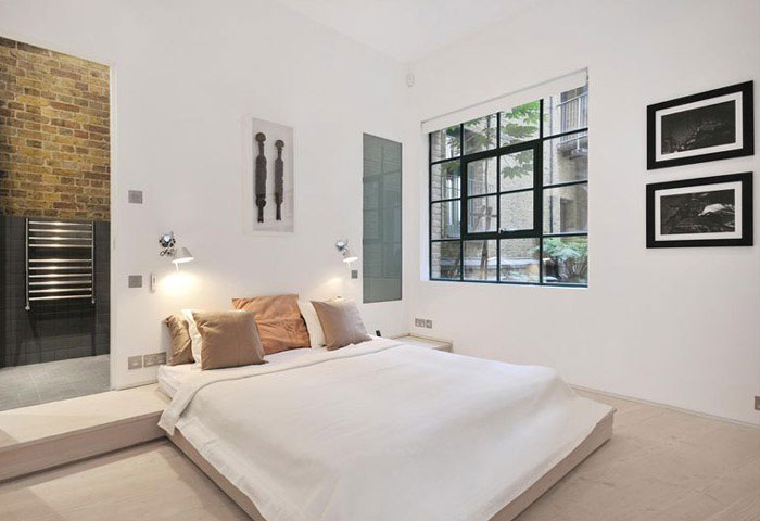 Contemporary apartment interior in london interiorzine for Bedroom designs london
