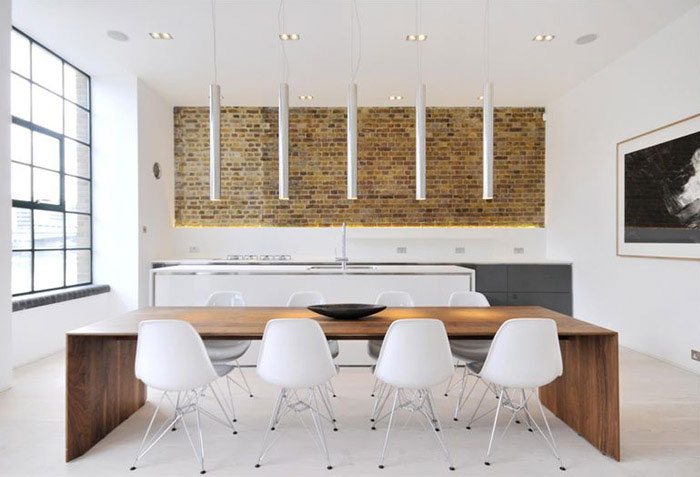 Contemporary Apartment Interior in London custom designed contemporary apartment dining area