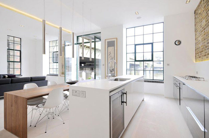 Contemporary Apartment Interior in London custom designed contemporary apartment kitchen