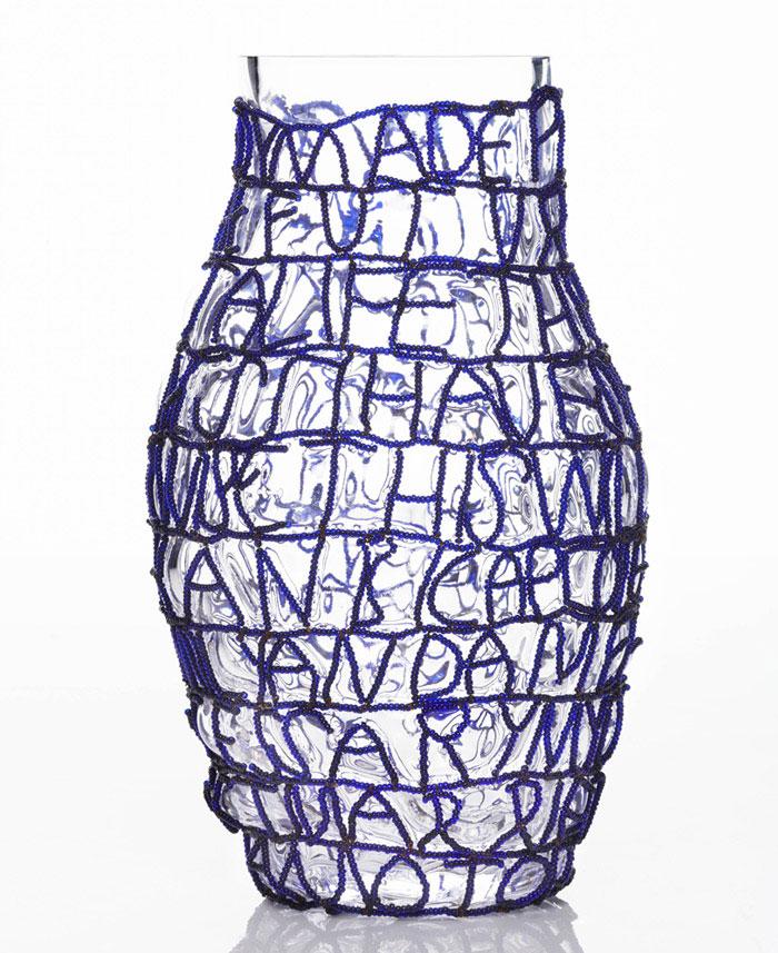 Story vases front story vases blue