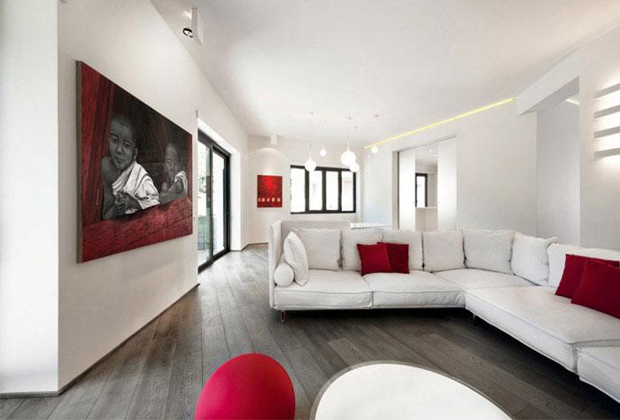 Luxurious apartment in rome interiorzine for Apartment design rome