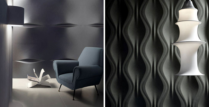 The surface of art by 3d surface interiorzine Exterior wall plaster design