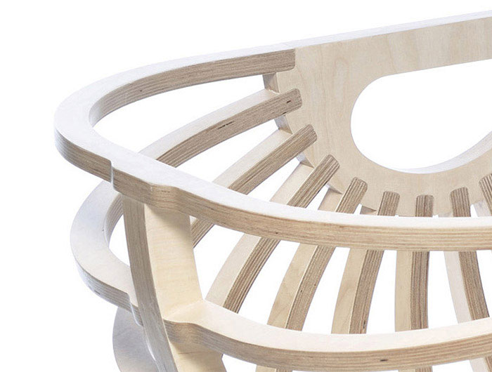 Collaboration Between Nature and Technology shell chair