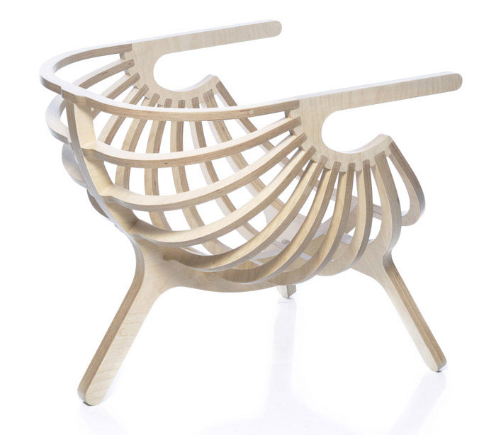 Collaboration Between Nature and Technology shell lounge chair 3