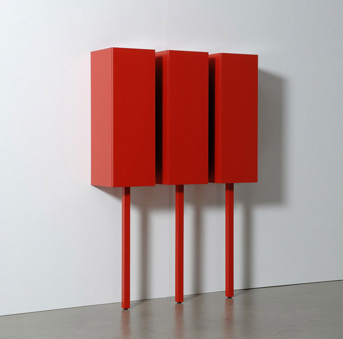 Cabinet Systems by Gerard de Hoop sticks cabinets red