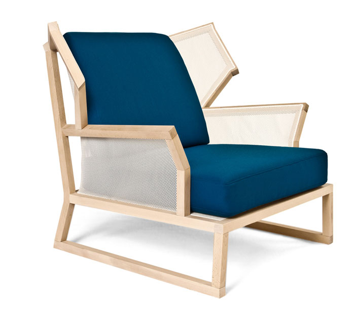 A Kind of Casual Elegance alfred armchair blue