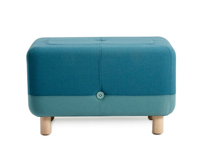 Playfully Combined by Simon Legald  buttons pouf