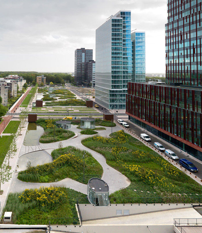 Green Oasis in a Highly Urban Environment landscape architecture