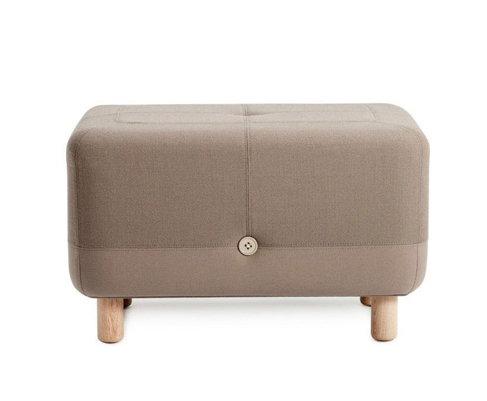 Playfully Combined by Simon Legald  sumo pouf beige