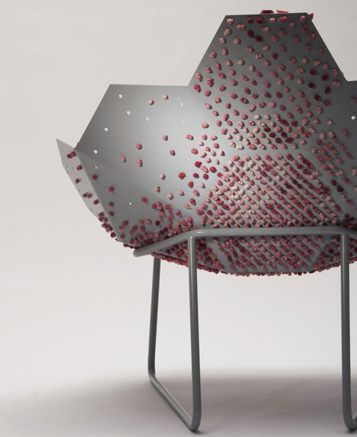 Unique Lounge Chair that Stimulating the Senses textile chair
