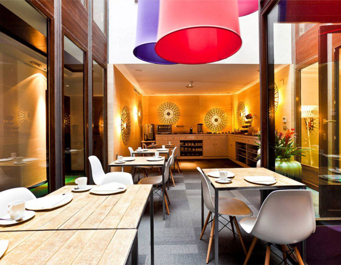 A cry of colour hotel coffee bar breakfast room