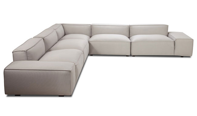 Family Living Easy II Light Grey Corner Sofa 1