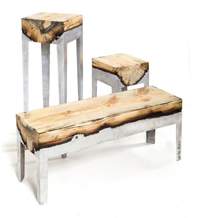 Aluminium And Wood furniture cast aluminium wood3