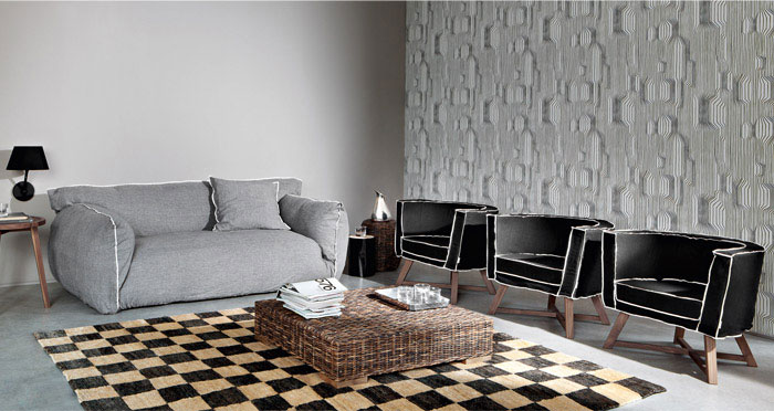 Fluffy Upholstered Collection paola navone upholstered collection