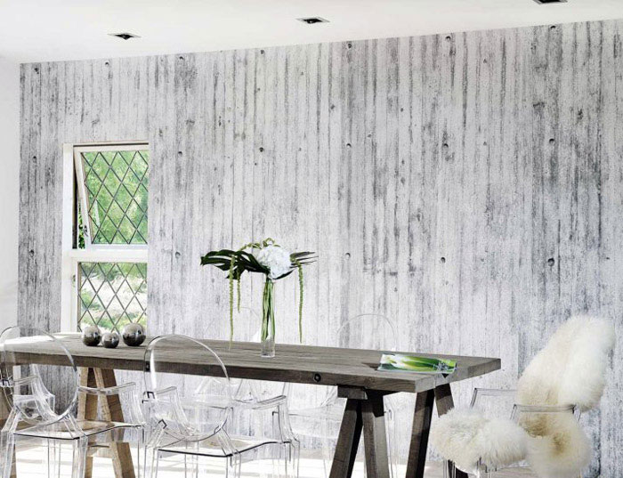 Concrete Wall Collection concrete wall dining room interior