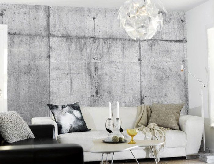 Concrete Wall Collection concrete wall living room interior