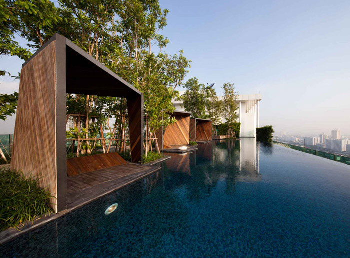 Condominium Garden by Shma Design garden pool design
