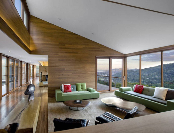 Hillside Residence living roof house interior1