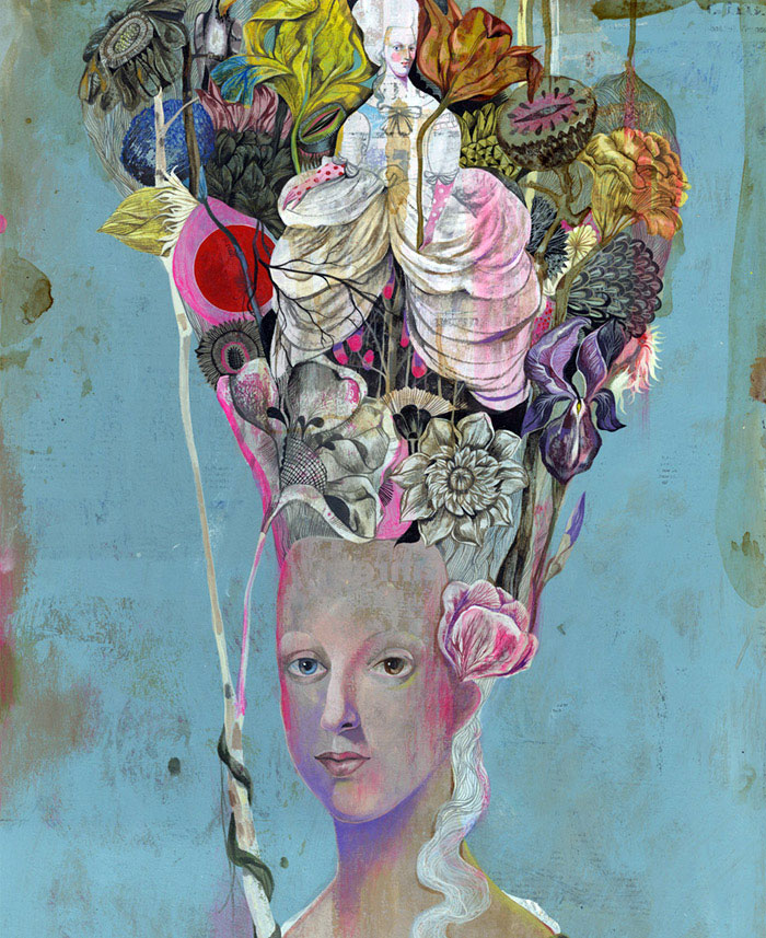 Black Antoinette An Exhibition By Olaf Hajek olaf hajek art portret