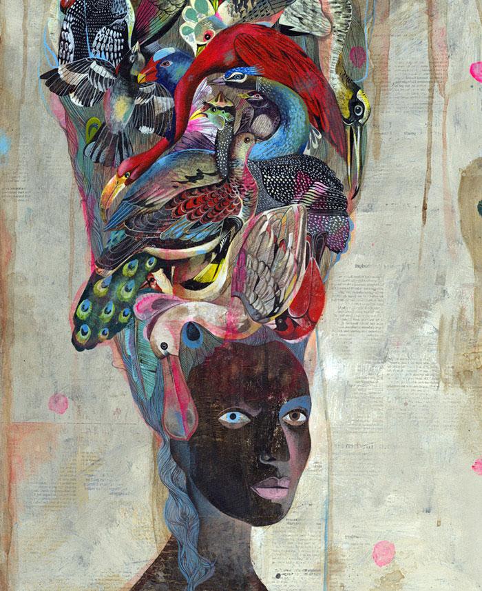 Black Antoinette An Exhibition By Olaf Hajek olaf hajek art