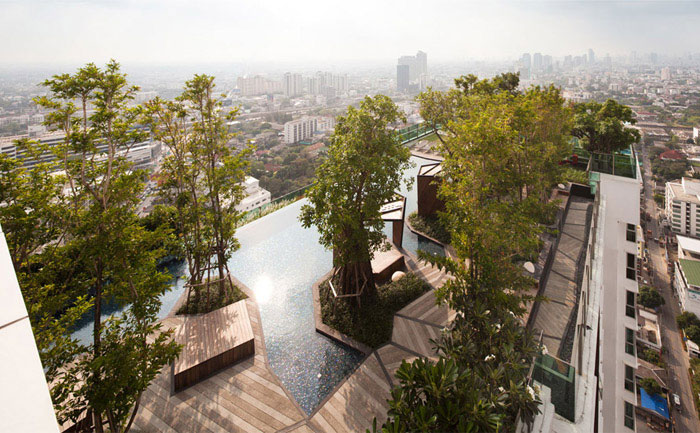 Condominium Garden by Shma Design pool design