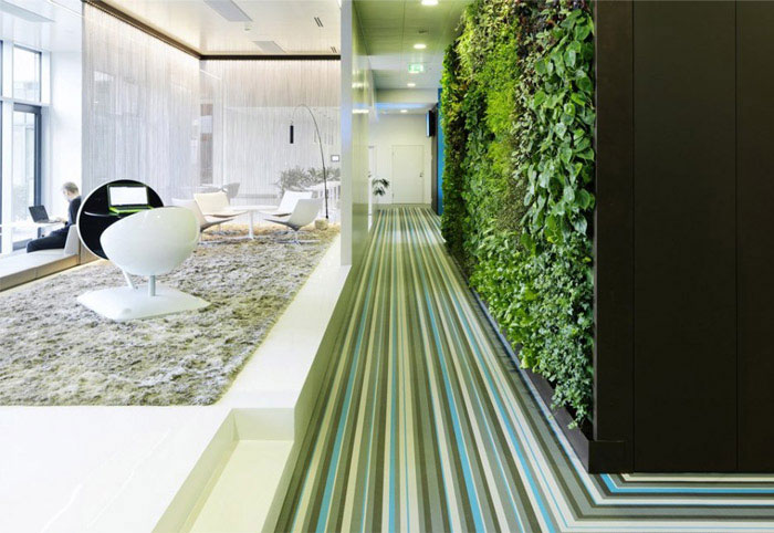 Microsoft's new headquarter working environment green decor2