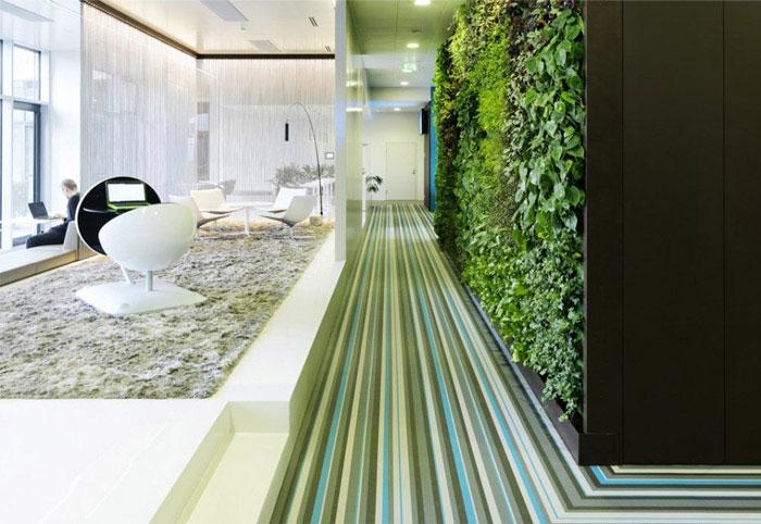 Microsoft's new headquarter working environment green decor2
