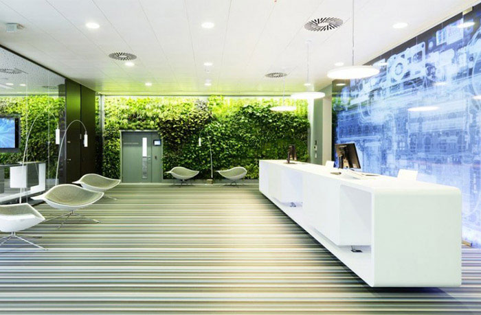 Microsoft's new headquarter working environment green decor3