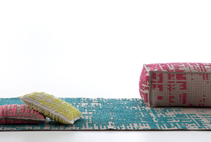 Gan Rugs Canevas Collection gan rugs soft poufs