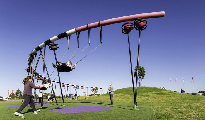 Playground For Entire Family giant swing