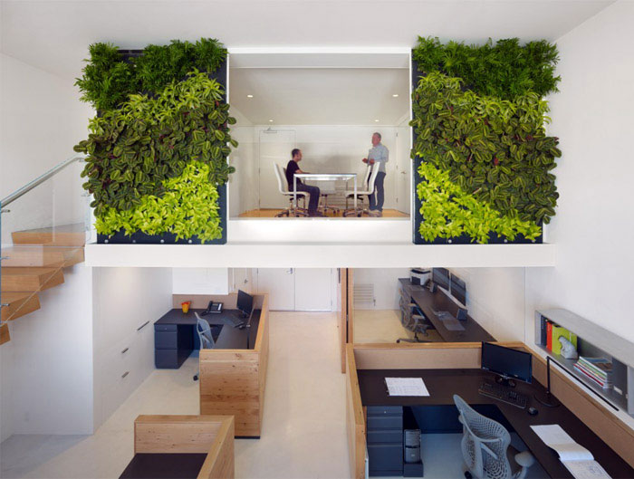 Green Office Space green decor office space