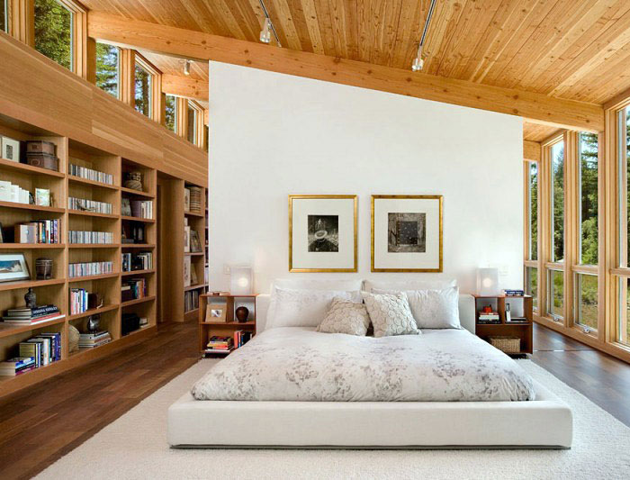 Contemporary Home in California contemporary home bedroom