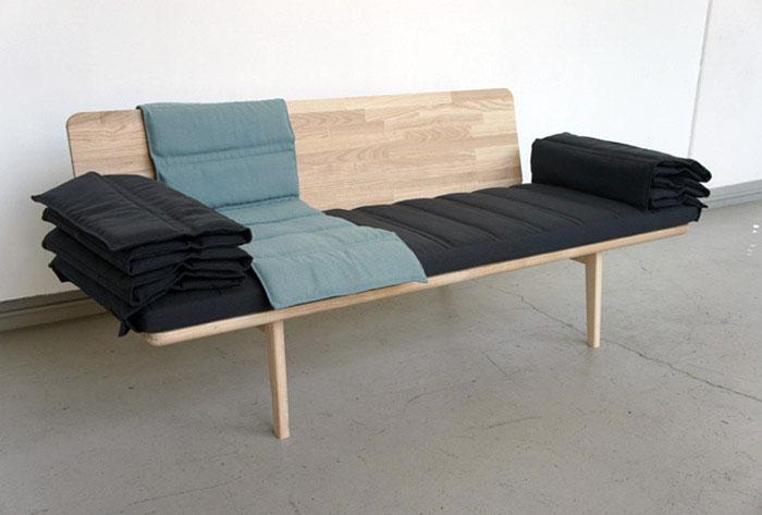 Tri fold Bench hardwood bench