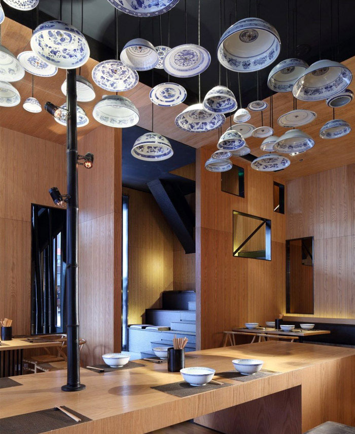 Taiwan Noodle House ceiling plates decor