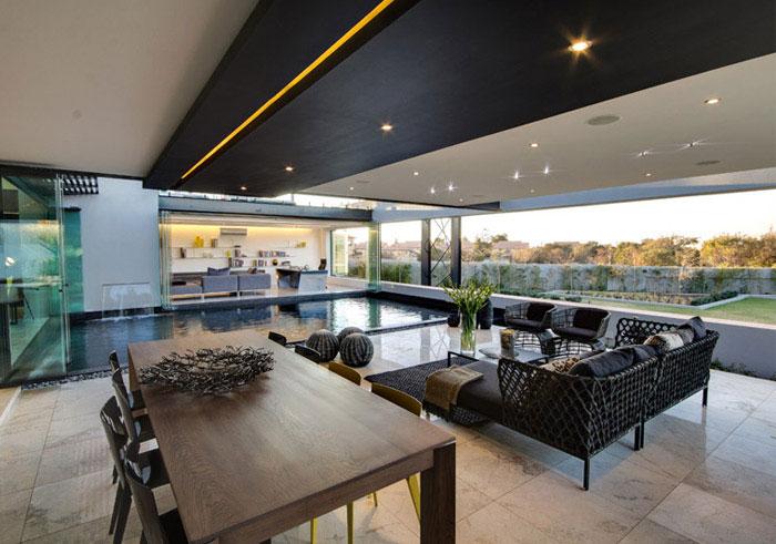 Open Plan, Airy Space exterior pool garden