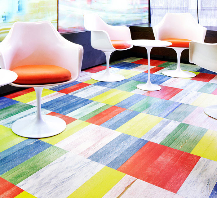 Modern Wood Flooring multi color parquet