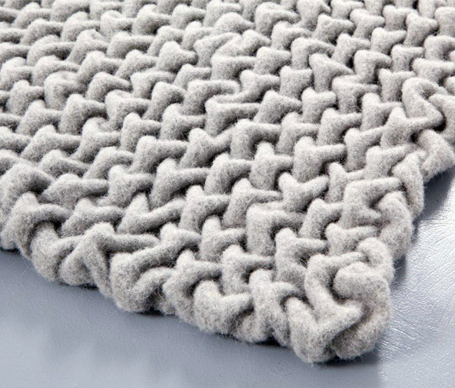Extra Dose of 'Cuddly' into Modern Furniture wooly material textile