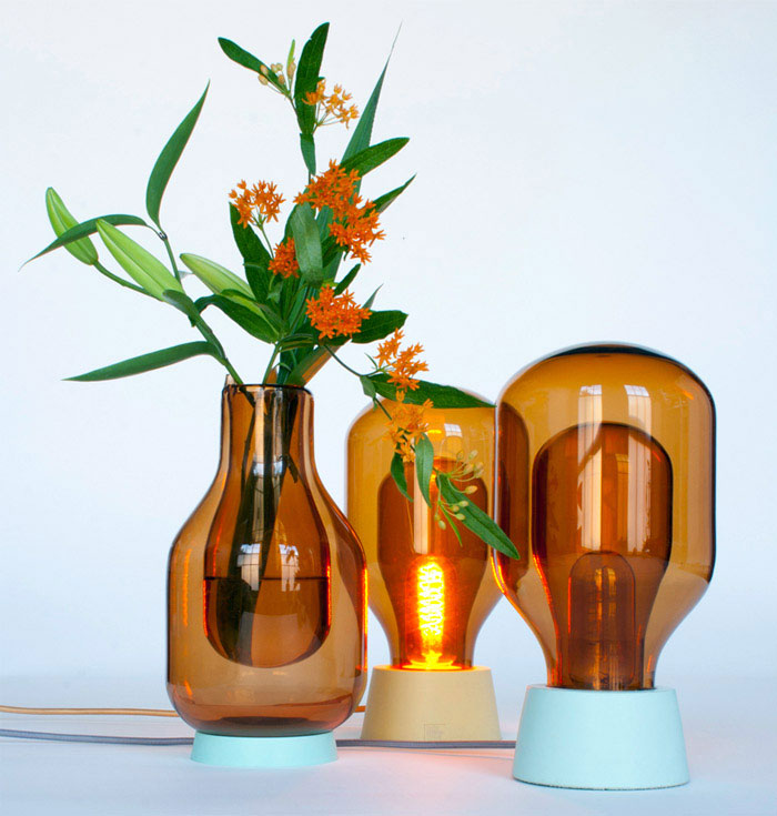 Dewar Glassware by David Derksen lamps vases inspired laboratory glassware