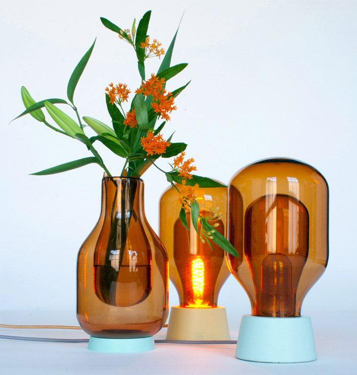 Dewar Glassware by David Derksen lamps vases inspired laboratory glassware