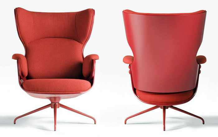 Classic Interpretation of an Armchair lounger red armchair