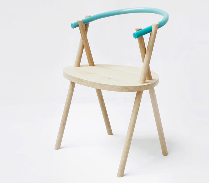Stuck Chair by Oato Design Studio oak wood chair
