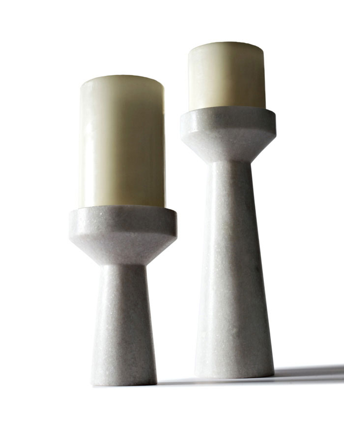 Collection of Everyday Home Accessories stone candle holder
