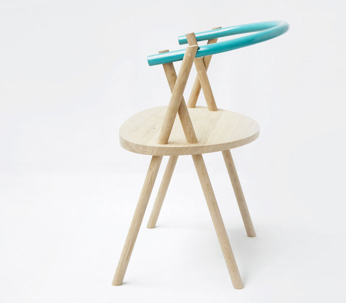 Stuck Chair by Oato Design Studio stuck chair oak wood