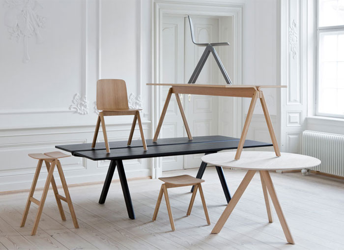 Table and Chair by Ronan and Erwan Bouroullec for HAY bouroullec hay