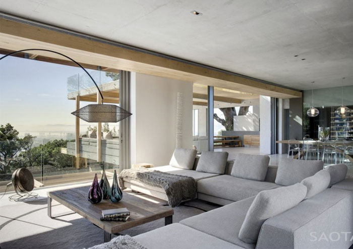 Glen House by SAOTA  glen house saota living room sofa