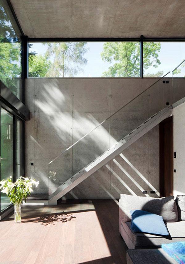 Modern Residential Building house o living room