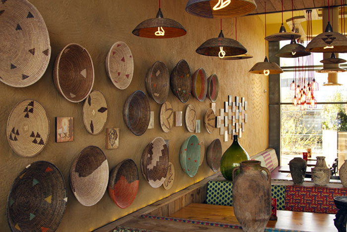 Nando's restaurant by B3 Designers interesting ceiling feature interior space