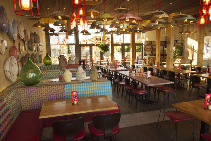 Nandos restaurant by B3 Designers restaurant interior decor